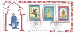 FDC Carte ALGER 17 12 1966 MINIATURES ALGERIENNES - Algeria (1962-...)