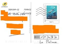 PAP Montimbramoi Monde 20 Gr Sur Carte Postale La Poste Du Même Motif Poste Aérienne Avion Bateau Toshiba - France