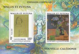 2003 Wallis & Futuna Art Paintings Gauguin Souvenir Sheet Joint Issue MNH - Wallis Und Futuna