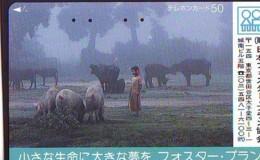 Télécarte Japon * YEAR Of The PIG (己亥) ZODIAC * (711) COCHON * PHONECARD JAPAN * TK * SCHWEIN * PORCO * VARKEN - Zodiaque