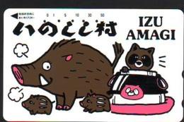 Télécarte Japon * YEAR Of The PIG (己亥) ZODIAC * (712) COCHON * PHONECARD JAPAN * TK * SCHWEIN * PORCO * VARKEN - Zodiaque