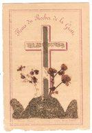 LOURDES FLEURS DU ROCHER DE LA GROTTE : IMAGE PIEUSE RELIGIEUSE HOLY CARD SANTINI HEILIG PRENTJE - Andachtsbilder