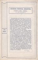 FIESTA NACIONAL DEL ARBOL. AÑO 1923. SOCIEDAD FORESTAL ARGENTINA. ENVIRONMENT & PROTECTION  - BLEUP - Bloemen, Planten & Bomen