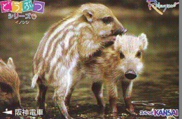 Carte Prépayée Japon * YEAR Of The PIG (己亥) ZODIAC * (718) COCHON *  PREPAIDCARD JAPAN * TK * SCHWEIN * PORCO * VARKEN - Zodiaque