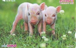 Carte Prépayée Japon * YEAR Of The PIG (己亥) ZODIAC * (720) COCHON *  PREPAIDCARD JAPAN * TK * SCHWEIN * PORCO * VARKEN - Zodiaque