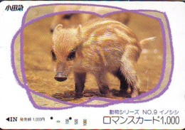 Carte Prépayée Japon * YEAR Of The PIG (己亥) ZODIAC * (722) COCHON *  PREPAIDCARD JAPAN * TK * SCHWEIN * PORCO * VARKEN - Zodiaque
