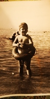 USSR. Little GIRL -  Semi Nude Naked Old Vintage Original Real Photo 1970s - Persone Anonimi