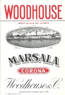"2073 "" MARSALA CORONA - WOODHOUSE - WOODHOUSE & C. "" ETICHETTA  ORIGINALE - Labels"