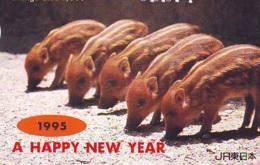 Carte Prépayée Japon * YEAR Of The PIG (己亥) ZODIAC * (733) COCHON *  PREPAIDCARD JAPAN * TK * SCHWEIN * PORCO * VARKEN - Zodiaque