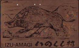 Télécarte Japon * YEAR Of The PIG (己亥) ZODIAC * Doré Gold (737) COCHON * PHONECARD JAPAN * TK * SCHWEIN * PORCO * VARKEN - Zodiac