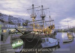 Postcard The Golden Hind Brixham Harbour Devon  My Ref  B23282 - England