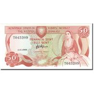 Billet, Chypre, 50 Cents, 1989-11-1, KM:52, NEUF - Chypre