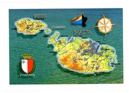 Malta. Maltese Archipelago. Malta, Gozo, Comino And Filfla. Archipel Maltais. Malte. - Malte
