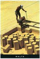 Malta. Building The Future. Limestone Cutting In One Of Malta's Stone Carries. Construire Le Futur. Carrières Calcaire. - Malte