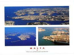 Malta. Aerial Views Of Valletta And Grand Harbour. The Maltese Islands. Vues Aériennes De La Valette Et Grand Port.Malte - Malte