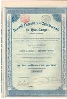 Action Ancienne - Société Forestière & Commerciale Du Haut Congo - Titre De 1901 - - Afrique