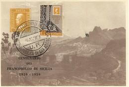 SAN MARINO - 1959 - Centenario Dei Primi Francobolli Di Sicilia.fdc Su 6 Cartoline.£.1+£.2+£.3+£.4+£.5+£.25. - FDC