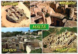 Malta. Prehistoric Temples In Malta & Gozo. Ggantija Gozo, Mnajdra, Tarxien And Hagar Qim. Malte. - Malte