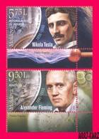 MOLDOVA 2018 Famous People Inventions & Discoveries Scientists Physics Nikola Tesla Medicine Alexander Fleming 2v MNH - Moldova
