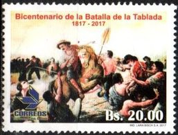 """Bolivia 2018 ** CEFIBOL 2317 (2017 #2301) Batalla De La Tablada. Habilitado """"Agencia Boliviana De Correos"""". - Bolivia"""