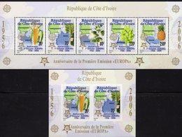 CEPT 2006 Ivoire Blocks 169+174 ** 35€ Countries EIRE D PL NL CZ Blocs Plant Mais Banana Ananas Ss Sheets Bf EUROPA - Europa-CEPT