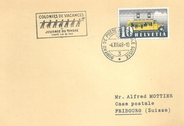"""Sonderstempel  """"Colonies De Vacances, Journée Du Timbre, Genève""""               1948 - Svizzera"""