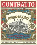 """2084 """" AMERICANO BITTER-CONTRATTO """" ETICHETTA  ORIG. 2° QUARTO DEL XX SECOLO - Etichette"""