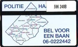 Telefoonkaart  LANDIS&GYR NEDERLAND * RCZ.596  248b * POLITIE HAAGLANDEN  * TK * ONGEBRUIKT * MINT - Privé