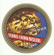 """2085 """" FERRO CHINA BISLERI """" ADESIVO  ORIG. 2° QUARTO DEL XX SECOLO - Adesivi"""
