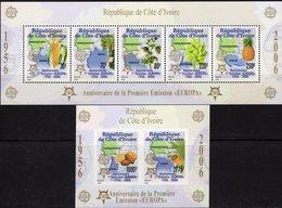 CEPT 2006 Ivoire Blocks 173+174 ** 41€ CZ D E EIRE NL P PL Blocs Fruits Oil Mais Banana Ananas M/s Sheets Bf EUROPA - Europa-CEPT