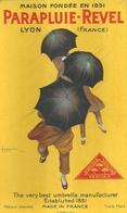 """2086 """"PARAPLUIE - REVEL - LYON - FRANCE - 1922-ILLUSTRAZIONE DI LEONETTO CAPPIELLO"""" CARTONCINO  ORIGINALE - Targhe Di Cartone"""