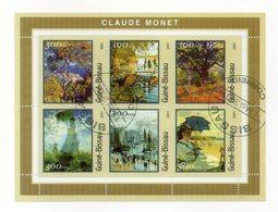 GUINEA BISSAU - 2001 - Foglietto Tematica  Arte - Claude Monet - 6 Valori - Con Doppio Annullo - (FDC13556) - Guinea-Bissau