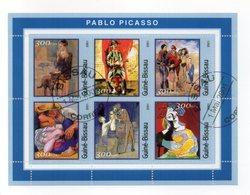 GUINEA BISSAU - 2001 - Foglietto Tematica  Arte - Picasso - 6 Valori - Con Doppio Annullo - (FDC13557) - Guinea-Bissau