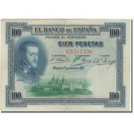 Billet, Espagne, 100 Pesetas, 1925, 1925-07-01, KM:69a, TB+ - [ 1] …-1931 : Premiers Billets (Banco De España)