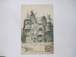 CPA 75 PARIS Hotel De Sens Marqué Verrerie Haroux  1903 Dos Simple T.B.E. - Other