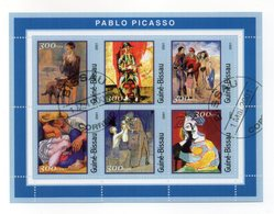 GUINEA BISSAU - 2001 - Foglietto Tematica  Arte - Picasso - 6 Valori - Con Doppio Annullo - (FDC13558) - Guinea-Bissau