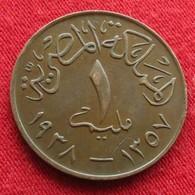Egypt 1  Millieme 1357 1938 Egipto Egypte Egito Egitto Ägypten 2L2-3 - Egypte