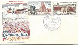 TOMBOUCTOU 15 Avril 1961 Cachet Temporaire Inauguration De L'aérodrome Tombouctou La Mystérieuse Mosquée Poste Aérienne - Mali (1959-...)