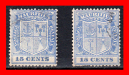 MAURITIUS SELLOS AÑO 1910 – 15 Ctms. ULTRAMARINE ARMS - Mauritania (1960-...)
