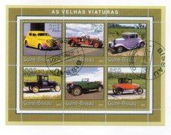 GUINEA BISSAU - 2001 - Foglietto Tematica  Trasporti - Automobili - 6 Valori - Con Doppio Annullo - (FDC13561) - Guinea-Bissau