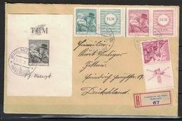 Czechoslovakia 1938, Registered Cover Vratislavice (Maffersdorf) To Zittau, Tomáš Masaryk (S/S) - Tsjechoslowakije