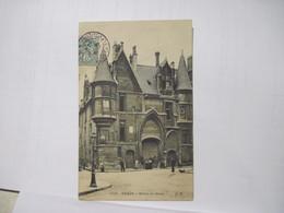 CPA 75 PARIS Hotel De Sens Marqué Verrerie Haroux 1906 Animée T.B.E. - Otros