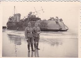 PHOTO ORIGINALE 39 / 45 WW2 WEHRMACHT FRANCE DUNKERQUE SOLDATS ALLEMANDS - Guerre, Militaire