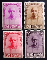 1932 Belgique Yt 342, 343, 344, 345 . Cardinal Mercier . Neufs Traces Charnières - Belgique