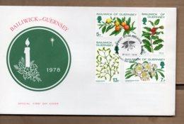 1978 Christmas Set FDC - Guernsey