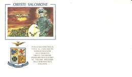 """2091 """" ORESTE SALOMONE-1968-INAUGURAZ. DELLA STELE AL CAP. DI AMMIN. DELL'ESERC.-1a MED. D'ORO AERONAUTICA """" FDC ORIG. - 6. 1946-.. Republic"""