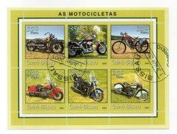 GUINEA BISSAU - 2001 - Foglietto Tematica  Trasporti - Moto - 6 Valori - Con Doppio Annullo - (FDC13564) - Guinea-Bissau