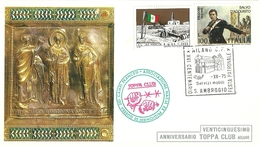 "2092 "" TOPPA CLUB MILANO-25° ANNIVERSARIO-(ASS. NAZ. EX PRIG. DI GUERRA FRANCESI) "" FDC ORIG. - 6. 1946-.. Republic"