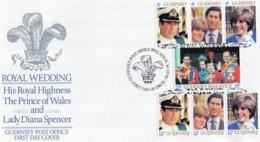 1981 Royal Wedding Set FDC - Guernsey