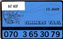 Telefoonkaart  LANDIS&GYR  NEDERLAND * RCZ.847  402F * TIMMERS TAAL * TK * ONGEBRUIKT * MINT - Privé